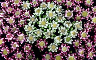 019 Mosaic lilies