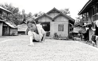 021 Rice drying Laos